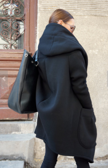 Asymetrical Jacket Large Hood