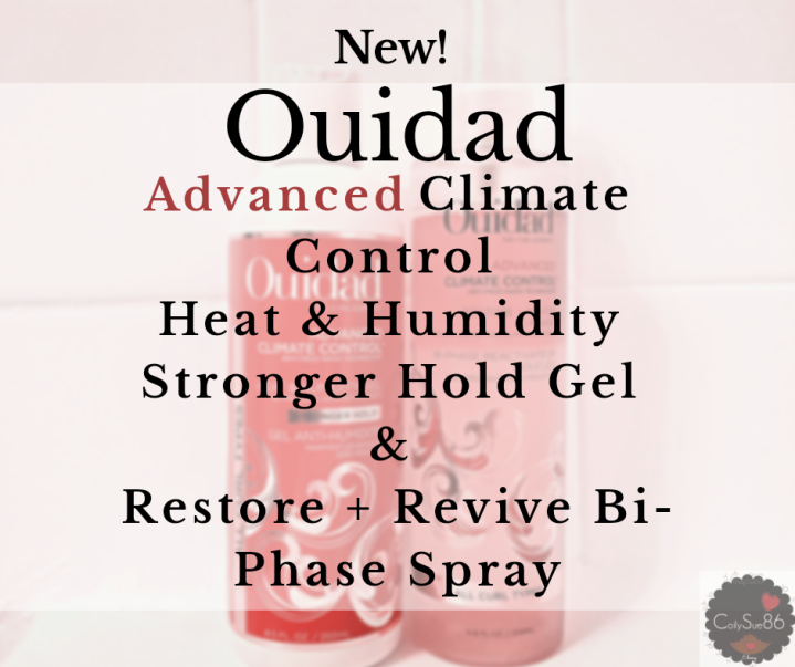 New! #Ouidad Advanced Climate Control Heat & Humidity Stronger Hold Gel & Restore + Revive Bi-Phase Spray w/ Promo Code.