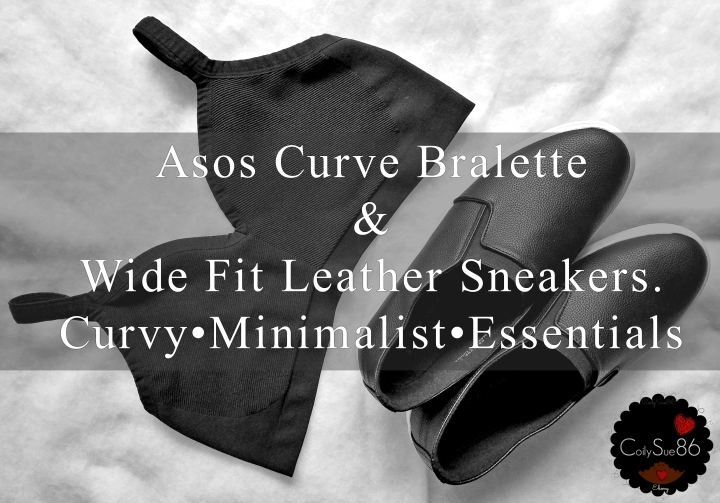 Asos Curve Bralette & Wide Fit Leather Sneakers. Curvy•Minimalist•Essentials