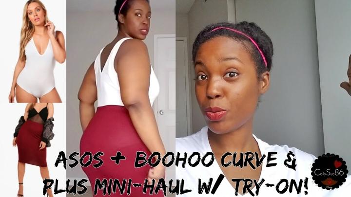 Asos + Boohoo Curve & Plus Mini-Haul w/ Try-On! (Video) Curvy•Minimalist•Essentials